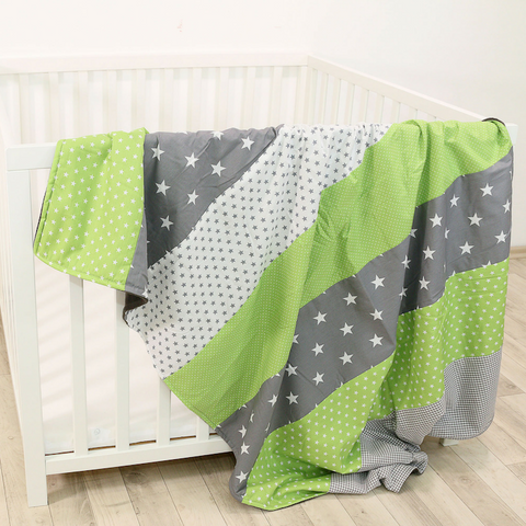 "Luxury Baby Blanket – Organic Cotton Baby Blanket, Green Grey, 39"" x 55"""