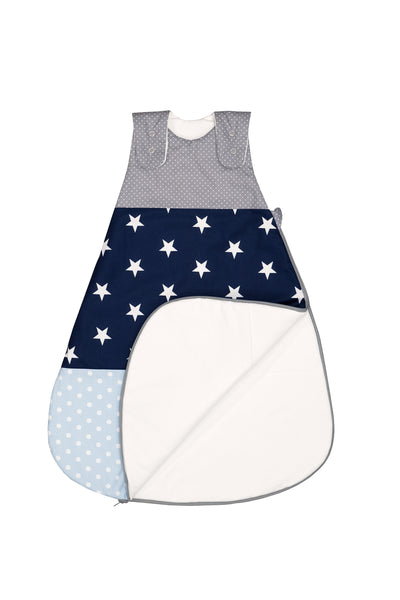 Sleep Sack – Baby Sleeping Bag, Wearable Blanket, Light Blue with Stars, 0-6 Months