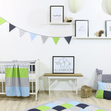 "Bunting & Baby Banner 75"" - Elephant Blue Green"