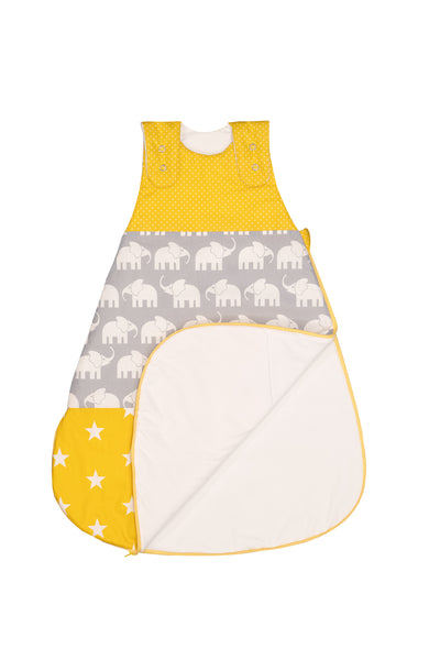 Sleep Sack – Baby Sleeping Bag, Wearable Blanket, Yellow with Elephants, 12-18 Months