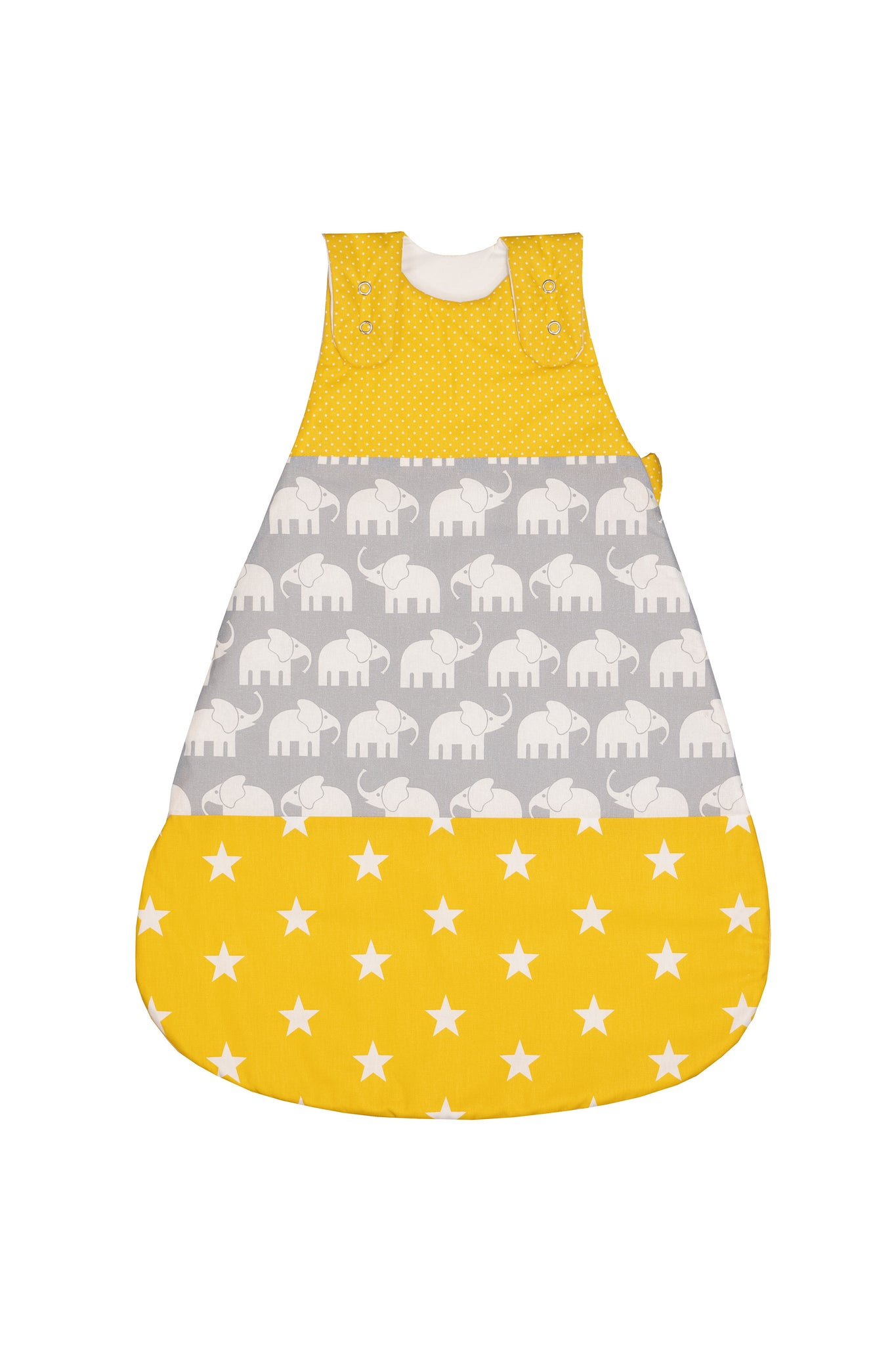 Sleep Sack – Baby Sleeping Bag, Wearable Blanket, Yellow with Elephants, 6-12 Months