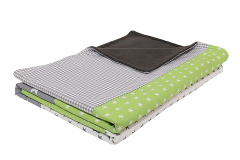 "Luxury Baby Blanket – Organic Cotton Baby Blanket, Green Grey, 27"" x 39"""