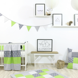 "Bunting & Nursery Garland 128"" - Green Grey"
