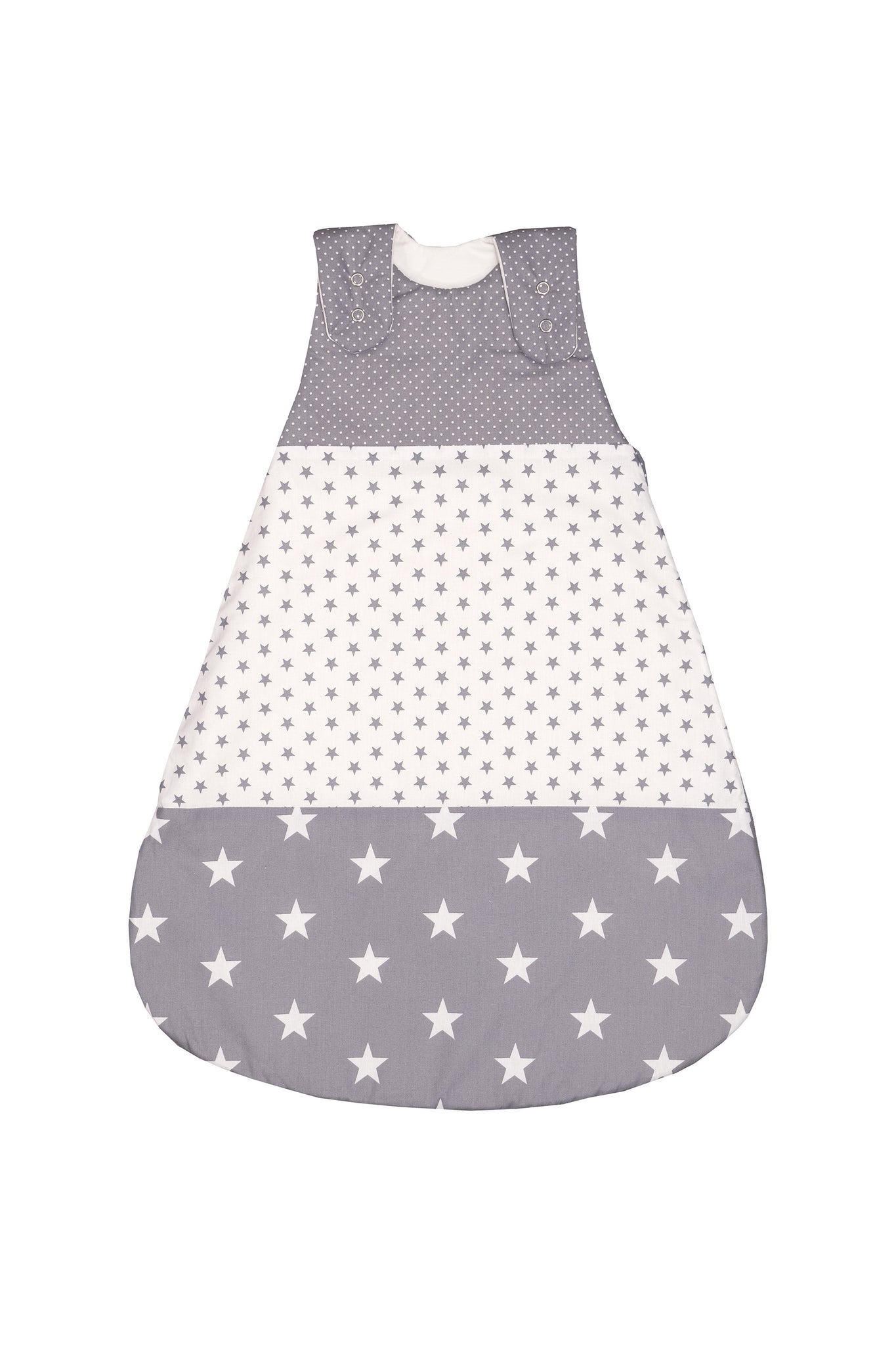 Sleep Sack – Baby Sleeping Bag, Wearable Blanket, Grey with Stars, 6-12 Months