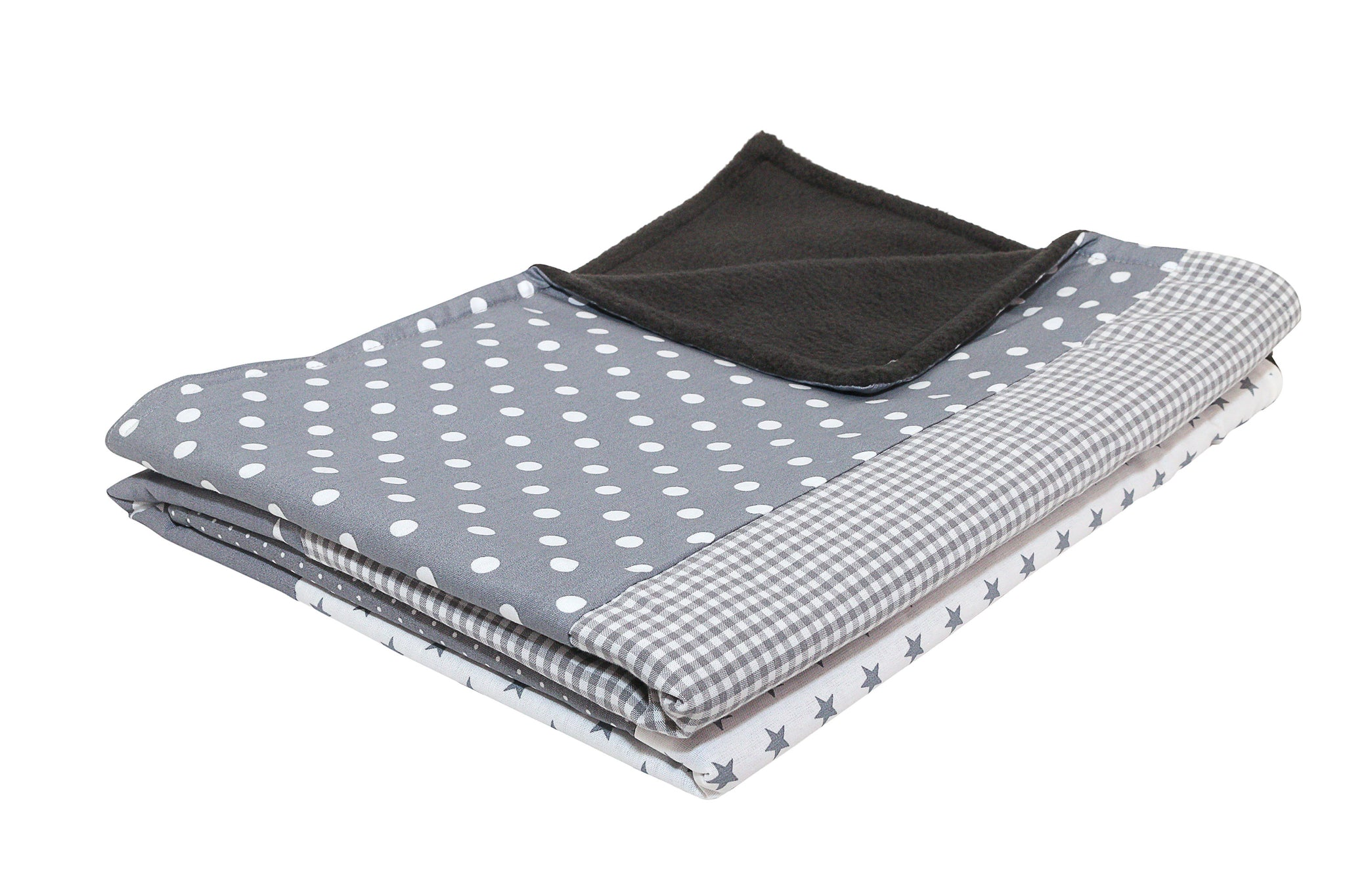 "Luxury Baby Blanket – Organic Cotton Baby Blanket, Grey Stars, 27"" x 39"""