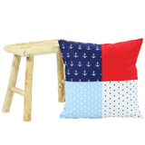 "Pillow Cover & Baby Pillow Case 20"" x 20"" - Anchor Red Blue"