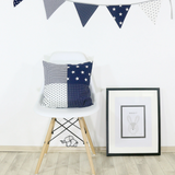 "Pillow Cover & Baby Pillow Case 20"" x 20"" - Blue Stars"