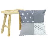 "Pillow Cover & Baby Pillow Case 20"" x 20"" - Grey Stars"