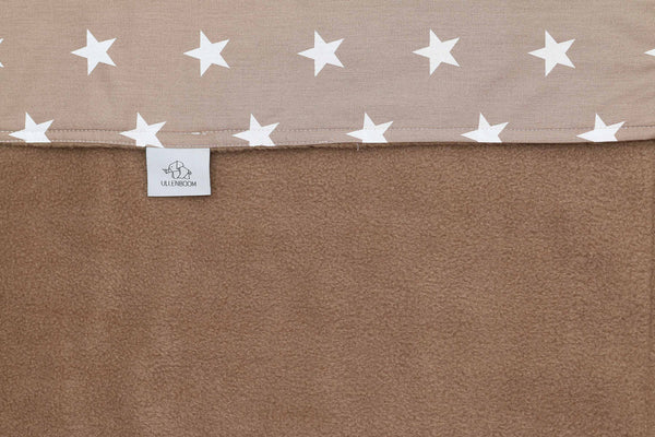 "Luxury Baby Blanket – Organic Cotton Baby Blanket, Bears Beige, 39"" x 55"""
