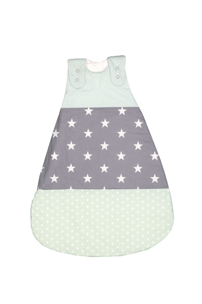 Sleep Sack – Baby Sleeping Bag, Wearable Blanket, Mint Grey with Stars, 6-12 Months