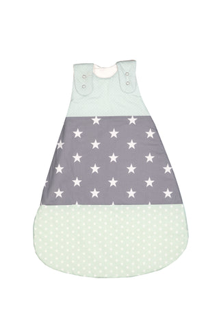 Sleep Sack – Baby Sleeping Bag, Wearable Blanket, Mint Grey with Stars, 0-6 Months