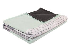 "Luxury Baby Blanket – Organic Cotton Baby Blanket, Mint Grey, 27"" x 39"""