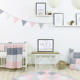 "Bunting & Nursery Garland 128"" - Rose Grey"