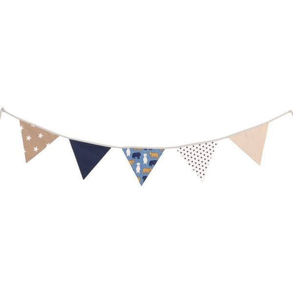 Fabric Banner Nursery Decor – Pennant Banner Decoration, Bears Beige, 6 ft.