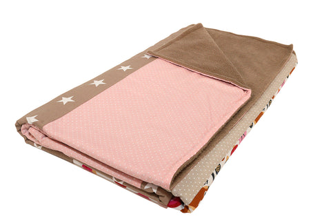 "Luxury Baby Blanket – Organic Cotton Baby Blanket, Squirrel Pink Beige, 39"" x 55"""