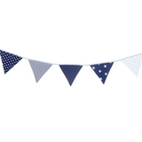 "Bunting & Baby Banner 75"" - Blue Stars"