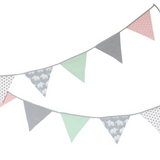 "Bunting & Nursery Garland 128"" - Elephant Mint Rose"