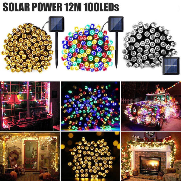 100 LEDS SOLAR CHRISTMAS LIGHTS