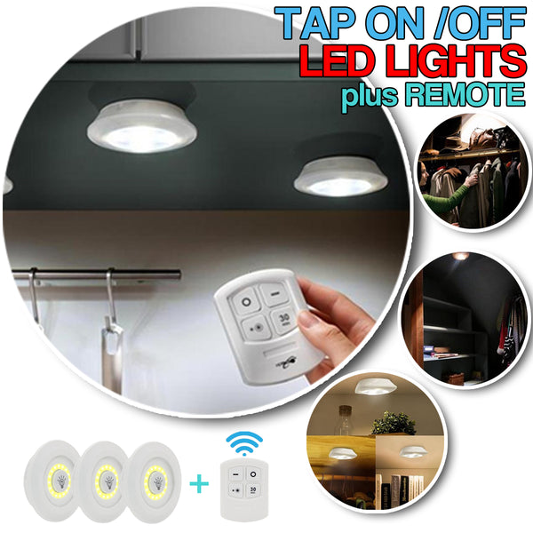 Tap Light Set of 3 w/ Remote BUY1TAKE1
