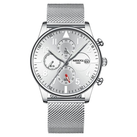 Silver Quartz Mesh Alloy Business Top Brand Luxury Men Casual Sport Watch