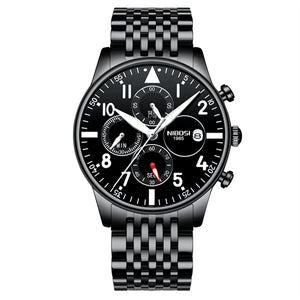 Gun Metal Quartz Business Top Brand Luxury Men Casual Sport Watch