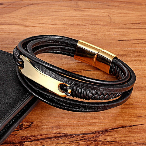 Image of Multi-layer Multi Style Genuine Leather Bracelet