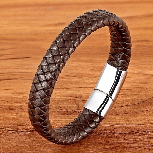 Brown Classic Braid Bracelet for Men