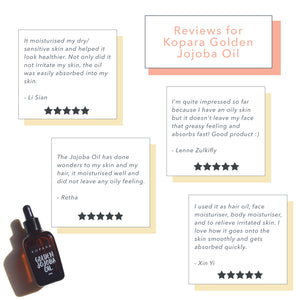 Free Kopara Golden Jojoba Oil Sample, 1ml (limited to 1 per customer)