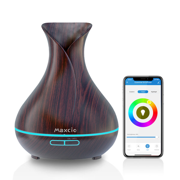 Maxcio Alexa WiFi Oil Diffuser for Aromatherapy(400ml)