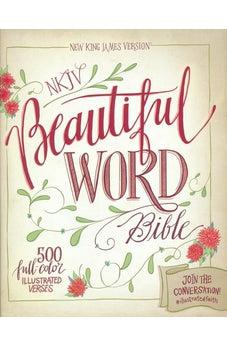 NKJV, Beautiful Word Bible, Hardcover, Red Letter Edition: 500 Full-Color Illustrated Verses 9780310003687