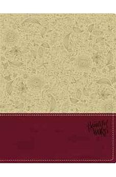 KJV, Beautiful Word Bible, Imitation Leather, Tan/Pink, Red Letter Edition: 500 Full-Color Illustrated Verses 9780310003731