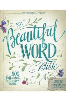 NIV, Beautiful Word Bible, Imitation Leather, Brown/Blue: 500 Full-Color Illustrated Verses 9780310003847