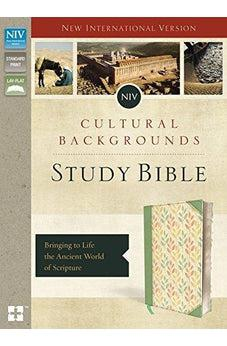 NIV Cultural Backgrounds Study Bible | imitation leather, sage & leaves 9780310080954