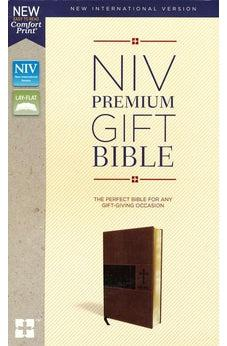 NIV, Premium Gift Bible, Leathersoft, Brown, Red Letter Edition, Comfort Print 9780310094067