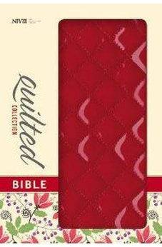NIV, Quilted Collection Bible, Imitation Leather, Red, Red Letter Edition 9780310411598