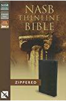 NASB, Thinline Zippered Collection Bible, Bonded Leather, Black, Red Letter Edition 9780310421207