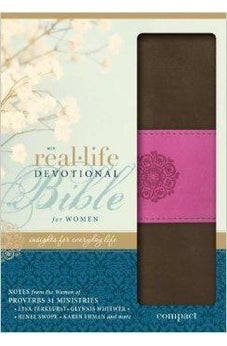 NIV Real-Life Devotional Bible For Women/Compact-Choco/Orchid DuoTone (Sep) 9780310429487