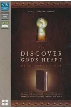 NIV Discover God's Heart Devotional Bible: Explore the King's Love for His People on a Cover-to-Cover Journey Through the Bible, LeatherSoft Brown/Tan, 9780310429555