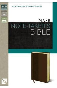 NASB, Note-Taker's Bible, Imitation Leather, Brown, Lay Flat
