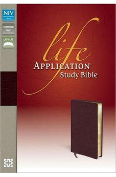 NIV Life Application Study Bible, Second Edition, Bonded Leather, Burgundy 9780310434498