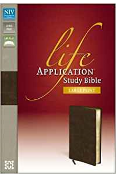 NIV Life Application Study Bible, Large Print 9780310434788