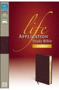 Image of NIV Life Application Study Bible, Large Print 9780310434825