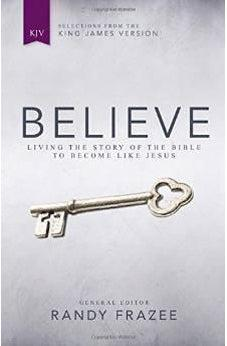KJV, Believe, Hardcover: Living the Story of the Bible to Become Like Jesus 9780310438090