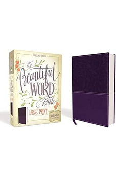 KJV, Beautiful Word Bible, Large Print, Leathersoft, Purple, Red Letter Edition: 500 Full-Color Illustrated Verses 9780310446118