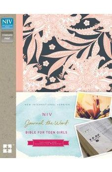 NIV, Journal the Word Bible for Teen Girls, Hardcover, Pink Floral, Red Letter Edition: Includes Over 450 Journaling Prompts!
