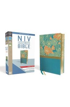 NIV, Thinline Bible, Large Print, Leathersoft, Teal, Red Letter Edition, Comfort Print 9780310448396