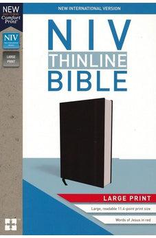 NIV, Thinline Bible, Large Print, Hardcover, Black, Red Letter Edition, Comfort Print