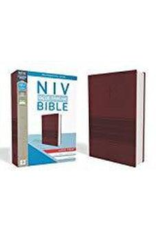 NIV, Value Thinline Bible, Large Print, Leathersoft, Burgundy, Comfort Print 9780310448525