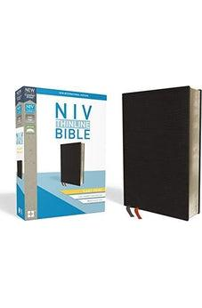 NIV, Thinline Bible, Giant Print, Bonded Leather, Black, Red Letter Edition, Comfort Print 9780310448594