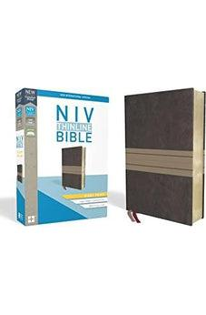 NIV, Thinline Bible, Giant Print, Leathersoft, Brown/Tan, Red Letter Edition, Comfort Print 9780310448648